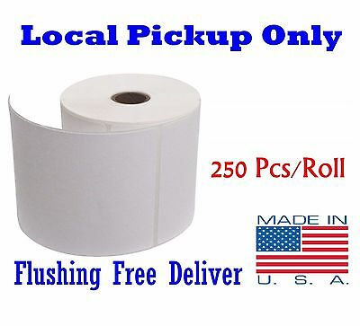 1 Rolls 4x6 Direct Thermal Label Zebra 250/Roll Local Pickup Only