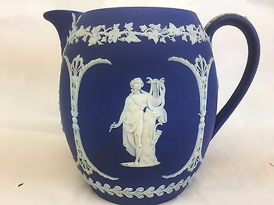 Wedgwood Royal Dark Blue Jasperware  Pitcher  6""