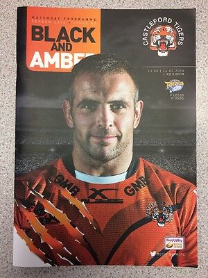 Castleford Tigers V Leeds Rhinos Matchday Programme Season 2016 Issue 3