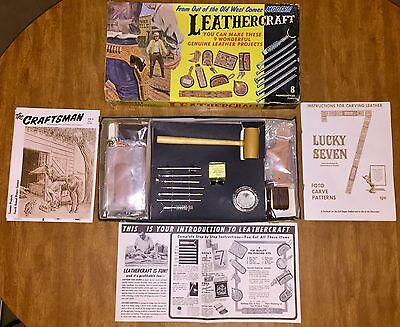 Vintage Tandy Leathercraft Beginners Kit Series B - New In The Box - Made In USA