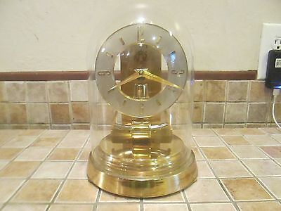 Vtg Kieninger Obergfell Kundo Electronic magnetic Glass dome clock West Germany