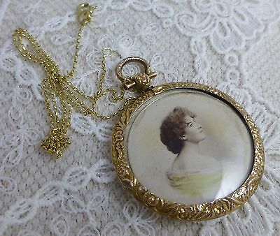 Beautiful Victorian Picture Locket - Large
