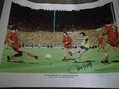Signed Charlie George 1971 Fa Cup Final Arsenal V Liverpool Limited Edition