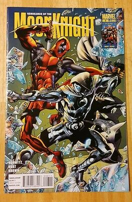 VENGEANCE OF MOON KNIGHT #8 (2009) Marvel 1st Print NM DEADPOOL! Pics