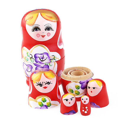 Wooden Russian Nesting Babushka Matryoshka 5 Dolls Set Hand Painted New