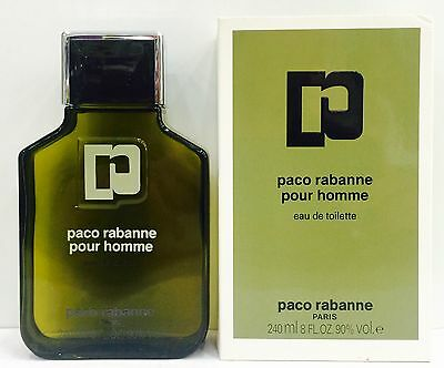 Paco Rabanne Pour Homme EDT 240 ml Splash OLD FORMULA  New & Rare