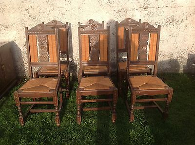 French antique vintage Louis Philippe style set of dining chairs