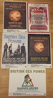 British Sea Power - Collection Of 5 UK Gig Posters!
