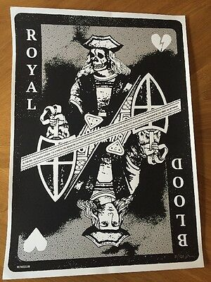 Royal Blood - Official UK Tour/gig poster/ Lithograph,2015 - Very Rare!!!
