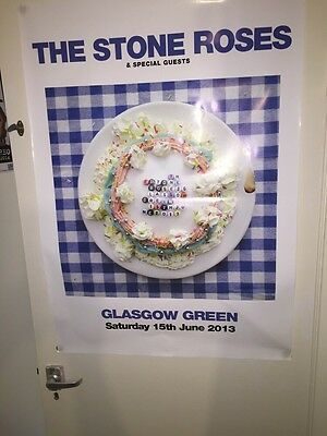 """The Stone Roses - Official Glasgow Green Gig Poster (2013) 35""""x25"""""""