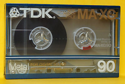 1x TDK MA-XG 90 Metal Cassette Tape 1986 + OVP + SEALED + US-VERSION +