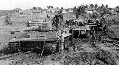 WWII Photo German Tiger I Eastern Front Mud  World War Two Pzkpfw. VI WW2 / 4030