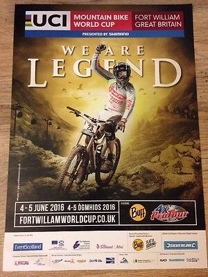 UCI Mountain Bike World Cup - Rare poster, 2016, Fort William