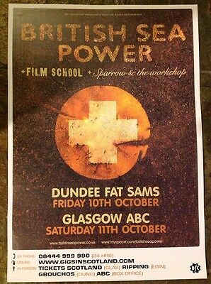 British Sea Power - Gig poster , Dundee & Glasgow, Oct 2008
