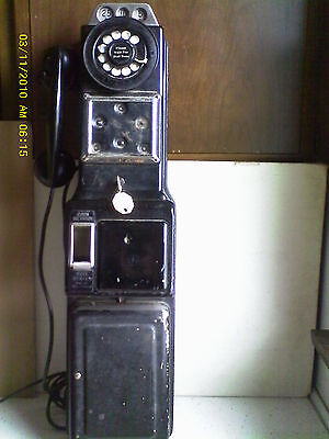 Vintage 1940's 1950's WESTERN ELECTRIC 191G 3 Slot Coin Payphone Complete! RARE!