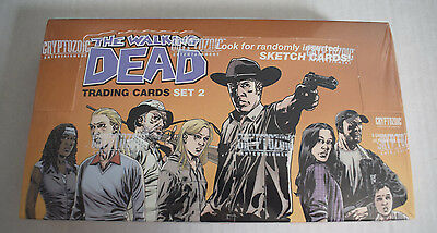 Walking Dead Comics Series 2 Factory Sealed Hobby Box 24 Packs ?? Auto Sketch ??