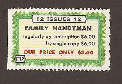 Cinderella poster stamp mnh family handyman magazine for Family handyman phone number