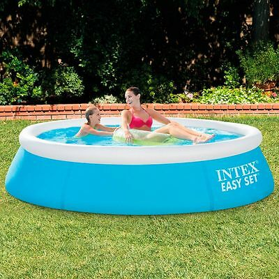 6ft x 20in Easy Set Swimming Pool Outdoor Inflatable Top Ring Fun Great Kids