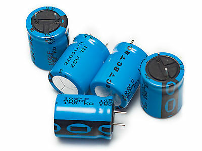 [10 pcs]2200uF 25V Low Impedance L. Life 105'C electrolytic capacitor BCC 150RMI