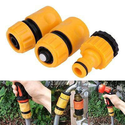 3pcs/Set Hose Pipe Tube Fitting Quick Water Connector Adapter Garden Lawn Tap