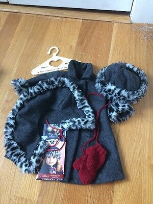 American Girl Nellie's Holiday Winter Coat And Hat