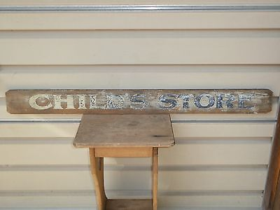 Early Old Rare 'childs Store' Wood Trade Sign Vintage Antique Department General