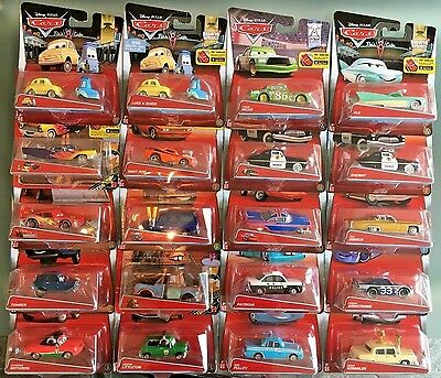 Disney Pixar Die Cast Cars - Sally, Chick Hicks, Mater & More - Scale 1:55 BNIB