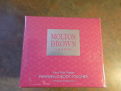Molton Brown New/sealed Fiery Pink Pepper Pampering Body Polisher 250Ml