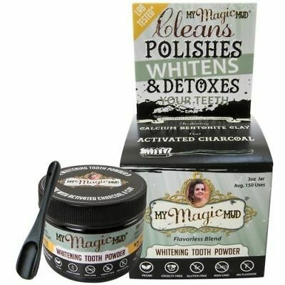 My Magic Mud 100% Natural Whitening Tooth Powder Flavorless Charcoal+ 3 oz
