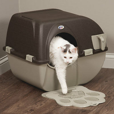 Easy SELF CLEANING Automatic Litter Box Kitty Pull SCOOP Pet Cat Toilet Regular