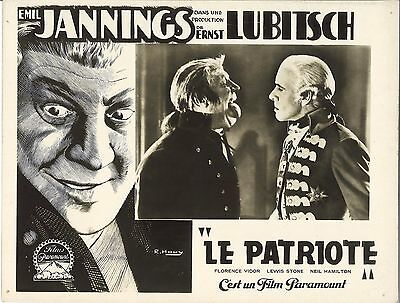*Ernst Lubitsch's THE PATRIOT (1928) EmiI Jannings & Lewis Stone Lobby Card
