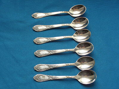 set 6 Vintage Soviet Russian Coffee Spoon MELCHIOR silverplate german silver 2