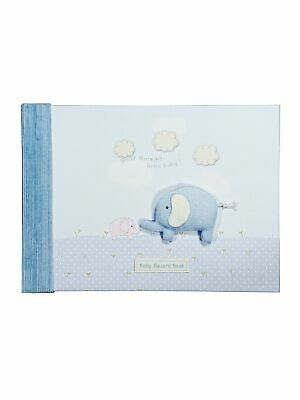 Boxed Boys Blue Elephant New Baby Record Book Memory Diary Photo Album Gift