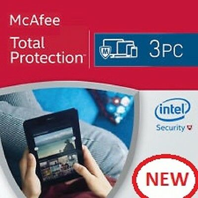 Mcafee Total Protection 2017 -  For 3 Devices  - Download