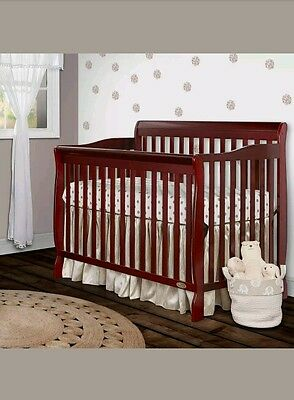Dream On Me Ashton Convertible 5-in-1 Crib, Cherry