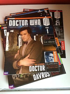 Doctor Who figurine Collection MAGAZINE only Part 1 to 21