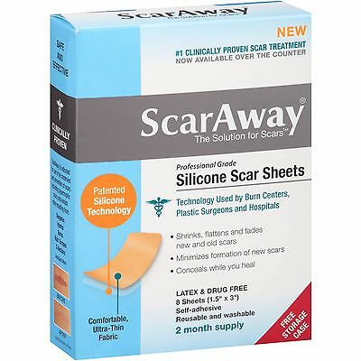 SCARAWAY Silicone scar sheets UK SELLER self adhesive reusable and washable