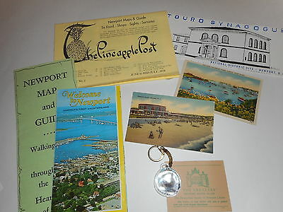 VINTAGE 1978 Newport,Rhode Island,Breakers,Touro Synagogue,Pineapple Post,etc