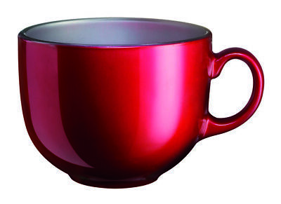 03654  Luminarc Flashy Colors - Teebecher Kaffeebecher Hartglas Becher Rot 500 m