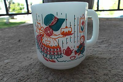 Vtg Holly Hobbie Glasbake Mug To Know is Nothing At All To Imagine Is Everything