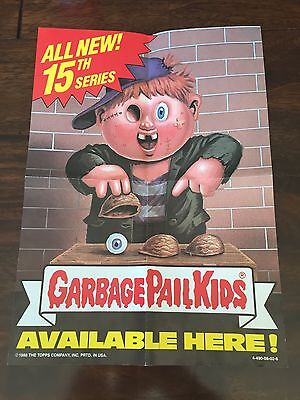 Garbage Pail Kids 1989 Series 15 Promotional Poster From Wax Box