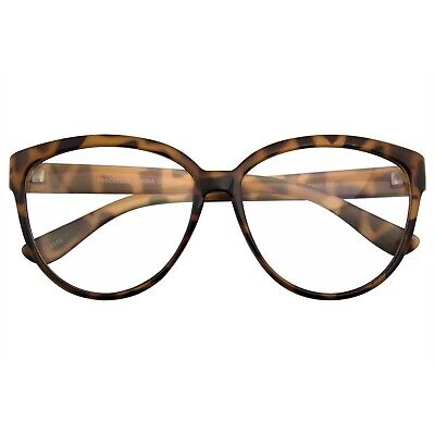 Womens Retro Nerd Clear Lens Fashion Cat Eye Geek Glasses