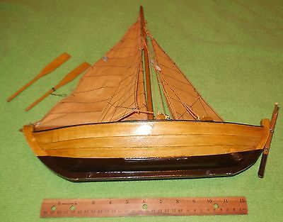 wooden sailboat model kit vintage handmade? collectible display rare fishing