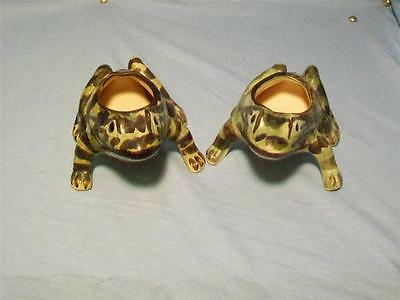 Two Vintage Brush McCoy Toad Planters