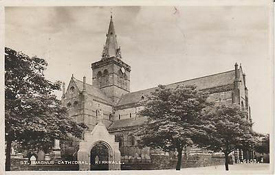 Kirkwall- St Magnus Cathedral - Orkney - Real Photo  Early Postcard