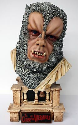 CURSE OF THE WEREWOLF Oliver Reed MODEL BUST Jeff Yagher EARTHBOUND Pro Buildup!