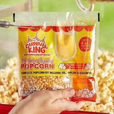 All-In-One Popcorn Kit for 8 oz. to 10 oz. Poppers - 24 / Case