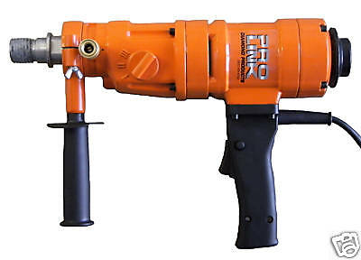"""4"""" New 3 Speed Hand Held Core Drill With Case"""