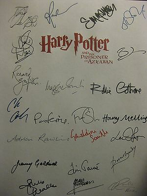 Harry Potter Prisoner of Azkaban Signed Script x22 Daniel Radcliffe Watson repnt