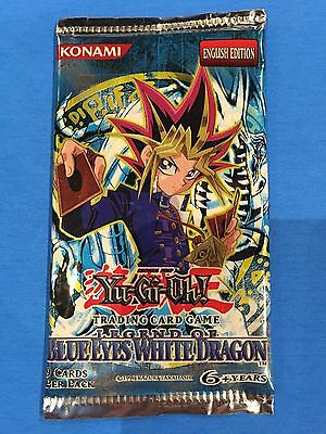 Yu-Gi-Oh ( LEGEND OF BLUE EYES WHITE DRAGON ) Sealed 9 Cards Booster Pack x 1